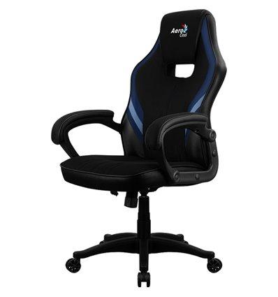 Кресло AeroCool AERO 2 Alpha black/blue, геймерское, ткань/экокожа, цвет черный/синий