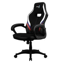 Кресло AeroCool AERO 2 Alpha RUS, геймерское, ткань/экокожа, цвет черный/триколор