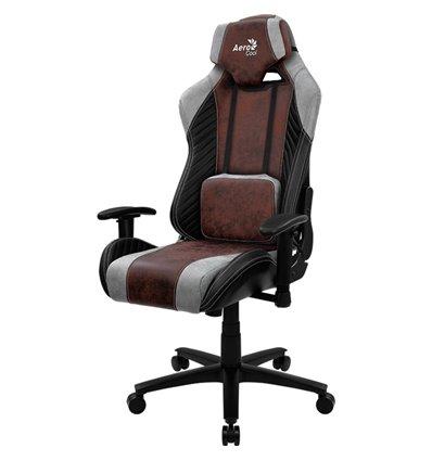 Кресло AeroCool BARON Burgundy Red, геймерское, ткань/экокожа