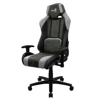 Кресло AeroCool BARON Hunter Green, геймерское, ткань/экокожа