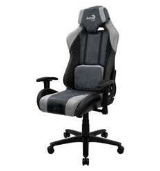 Кресло AeroCool BARON Steel Blue, геймерское, ткань/экокожа