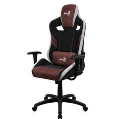 Кресло AeroCool COUNT Burgundy Red, геймерское, ткань/экокожа