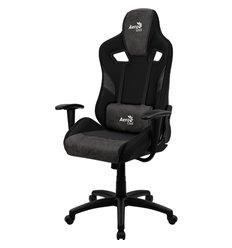 Кресло AeroCool COUNT Iron Black, геймерское, ткань/экокожа