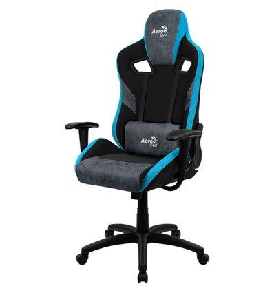 Кресло AeroCool COUNT Steel Blue, геймерское, ткань/экокожа