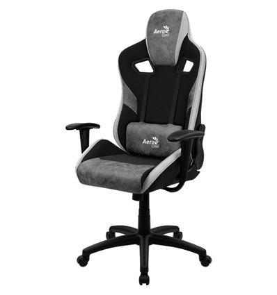 Кресло AeroCool COUNT Stone Grey, геймерское, ткань/экокожа