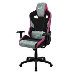 Кресло AeroCool COUNT Teal Green, геймерское, ткань/экокожа