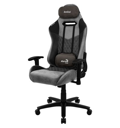 Кресло AeroCool DUKE Ash Black, геймерское, ткань/экокожа