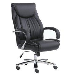 Кресло BRABIX Advance EX-575 для руководителя, хром, экокожа, черное