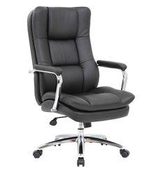Кресло BRABIX Amadeus EX-507 для руководителя, рециклированная кожа, хром, черное