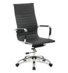 Кресло BRABIX Energy EX-509 для руководителя, хром, рециклированная кожа, черное
