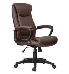 Кресло BRABIX Enter EX-511 для руководителя, экокожа, коричневое