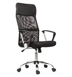 Кресло BRABIX Flash MG-302 для оператора, хром, сетка/ткань/экокожа, черное