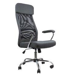 Кресло BRABIX Flight EX-540 для руководителя, ткань, сетка, серое