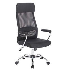 Кресло BRABIX Flight EX-540 для руководителя, ткань, сетка, черное