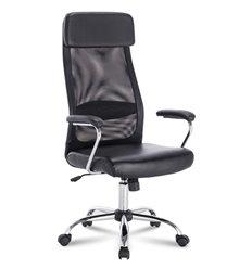 Кресло BRABIX Flight EX-540 для руководителя, экокожа, сетка, черное