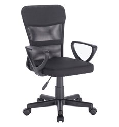Кресло BRABIX Jet MG-315 для оператора, сетка/ткань, черное