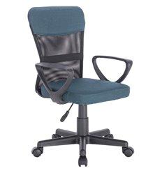 Кресло BRABIX Jet MG-315 для оператора, сетка/ткань, черное/синее