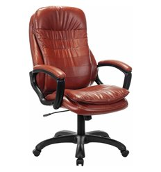 Кресло BRABIX Omega EX-589 для руководителя, экокожа, коричневое