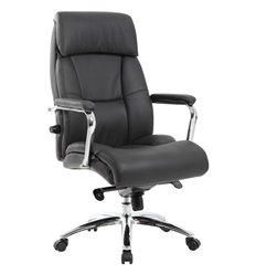 Кресло BRABIX Phaeton EX-502 для руководителя, хром, кожа, черное