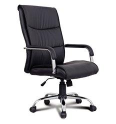 Кресло BRABIX Space EX-508 для руководителя, хром, экокожа, черное