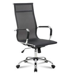Кресло BRABIX Line EX-530 для руководителя, хром, сетка, черное