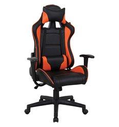 Кресло BRABIX GT Racer GM-100 игровое, две подушки, экокожа, черное/оранжевое