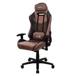 Кресло AeroCool DUKE Punch Red, геймерское, ткань/экокожа