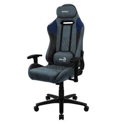 Кресло AeroCool DUKE Steel Blue, геймерское, ткань/экокожа