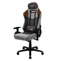 Кресло AeroCool DUKE Tan Grey, геймерское, ткань/экокожа