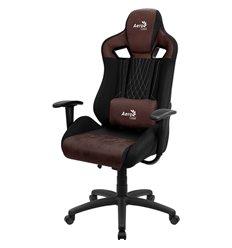 Кресло AeroCool EARL Burgundy Red, геймерское, ткань/экокожа