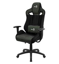 Кресло AeroCool EARL Hunter Green, геймерское, ткань/экокожа