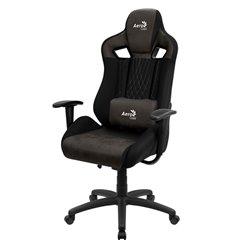 Кресло AeroCool EARL Iron Black, геймерское, ткань/экокожа