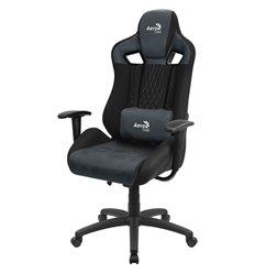 Кресло AeroCool EARL Steel Blue, геймерское, ткань/экокожа
