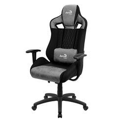 Кресло AeroCool EARL Stone Grey, геймерское, ткань/экокожа