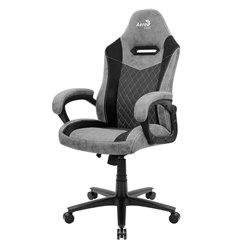 Кресло AeroCool DUKE Lite Ash Black, геймерское, ткань/экокожа