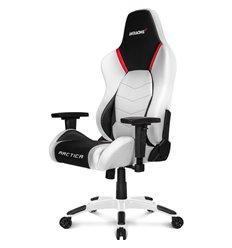 Кресло AKRacing Arctica, геймерское, экокожа, цвет белый/черный