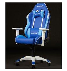 Кресло AKRacing CALIFORNIA TAHOE, геймерское, экокожа, цвет синий/белый