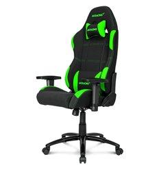 Кресло AKRacing K7012 Black/Green, геймерское, ткань, цвет черный/зеленый