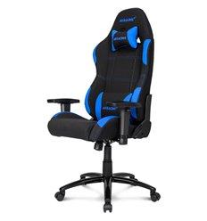 Кресло AKRacing K7012 Black/Blue, геймерское, ткань, цвет черный/синий