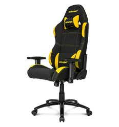 Кресло AKRacing K7012 Black/Yellow, геймерское, ткань, цвет черный/желтый