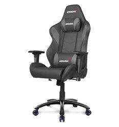Кресло AKRacing LX PLUS Black, геймерское, экокожа, цвет черный