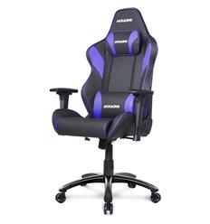 Кресло AKRacing LX PLUS Black/Indigo, геймерское, экокожа, цвет черный/синий