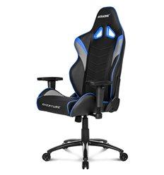 Кресло AKRacing OVERTURE Black/Blue, геймерское, экокожа, цвет черный/синий/серый