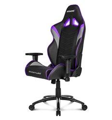 Кресло AKRacing OVERTURE Black/Indigo, геймерское, экокожа, цвет черный/индиго/серый