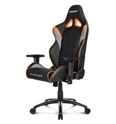 Кресло AKRacing OVERTURE Black/Orange, геймерское, экокожа, цвет черный/оранжевый/серый