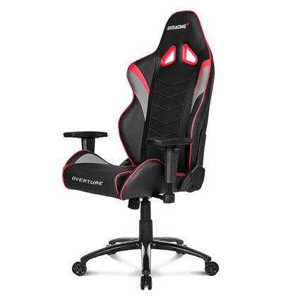 Кресло AKRacing OVERTURE Black/Red, геймерское, экокожа, цвет черный/красный/серый