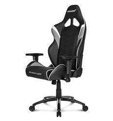 Кресло AKRacing OVERTURE Black/White, геймерское, экокожа, цвет черный/белый/серый