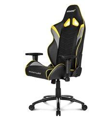 Кресло AKRacing OVERTURE Black/Yellow, геймерское, экокожа, цвет черный/желтый/серый