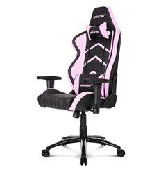 Кресло AKRacing PLAYER Black/Pink, геймерское, экокожа, цвет черный/розовый