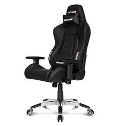 Кресло AKRacing PREMIUM Black, геймерское, экокожа, цвет черный